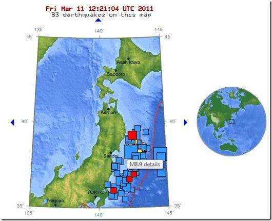 Japan Jordbävning